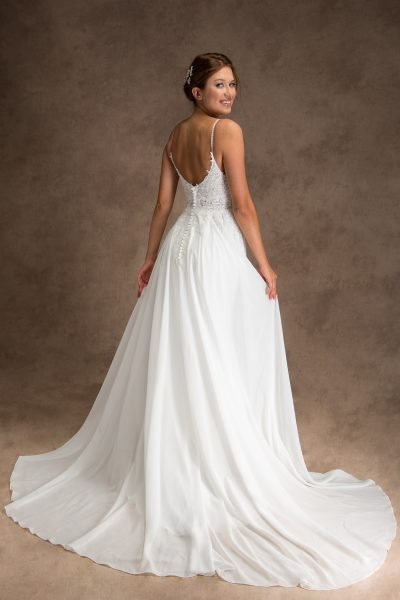 Grace + Ivory Lacy Wedding Dress