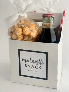 Customizable Snack Boxes.