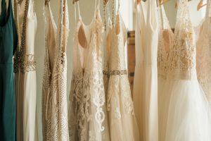 Dresses Hung Up